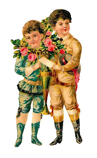 romantic victorian roses boys valentine digital clipart download