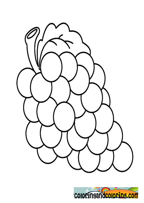 grapes coloring page - grapes coloring printables coloring pages