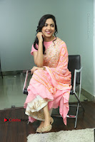 Actress Ritu Varma Pos in Beautiful Pink Anarkali Dress at at Keshava Movie Interview .COM 0248.JPG