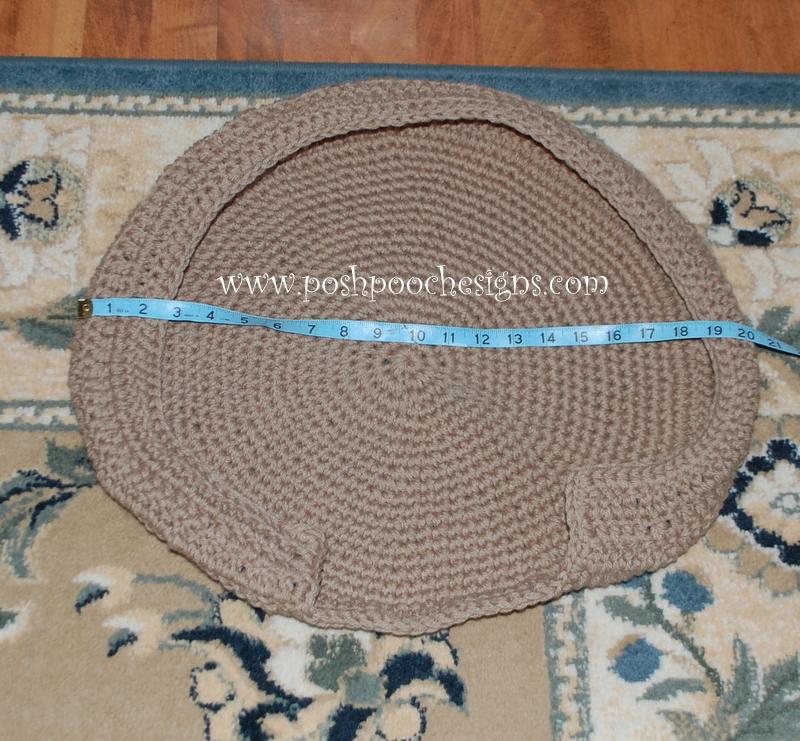 Posh Pooch Designs Dog Clothes: Dog Bed Crochet Pattern