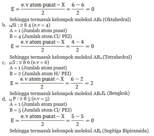 Ramalkan Bentuk Molekul Dari A Sf6 B Sicl4 C H2s D Pcl5 Primalangga
