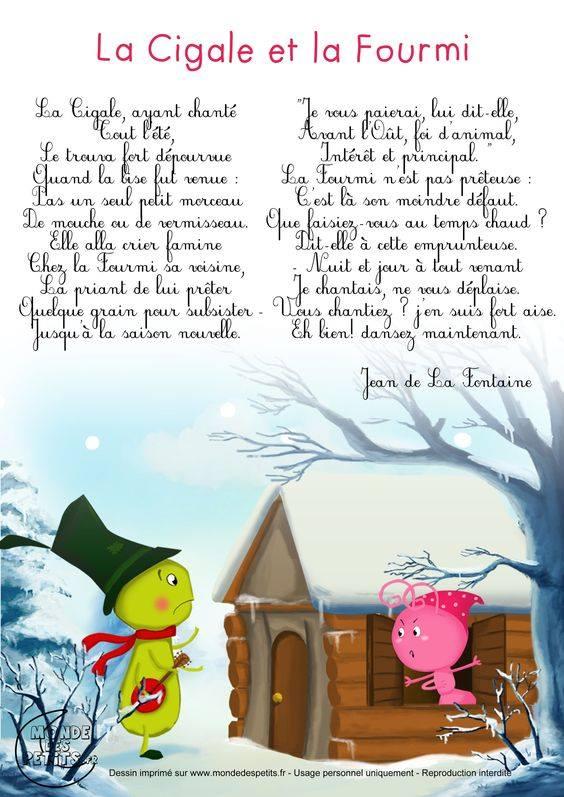"""""""La Cigale et la Fourmi"""" - wiersz - Francuski przy kawie"""