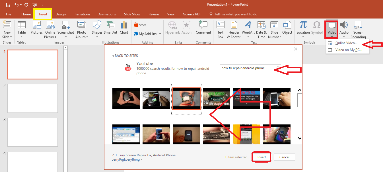 learn new things: how to insert/add youtube video in powerpoint, Powerpoint templates