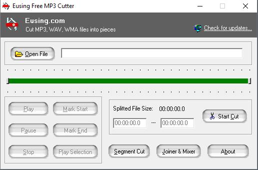 شرح + تحميل أسهل برنامج قص الاغاني PORTABLE EUSING FREE MP3 CUTTER