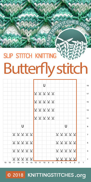 KnittingStitches — Butterfly Chart | Knitting Stitch Patterns #knitting #knitters
