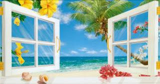 открытые окна и море предвещающие добрый день