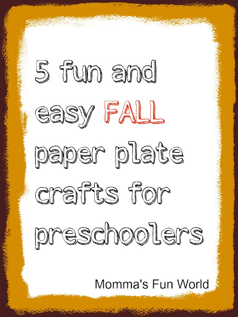 5 fun Fall time paper plate crafts