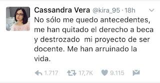 El delito de Cassandra y sus 13 tuits