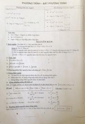 Công thức toán đại ôn, luyện thi đại học