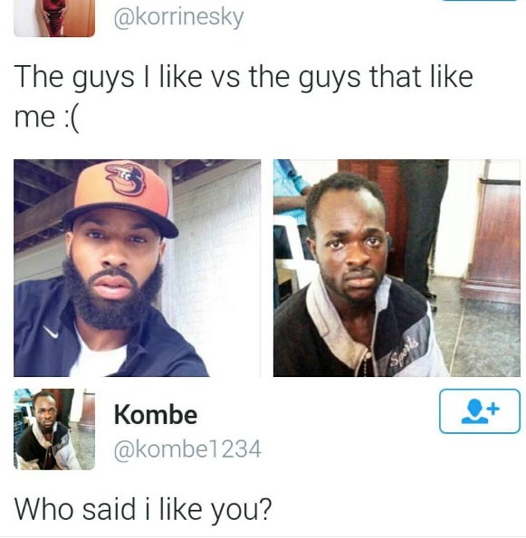 Who said I like you? Guy claps back on lady who used his picture as meme