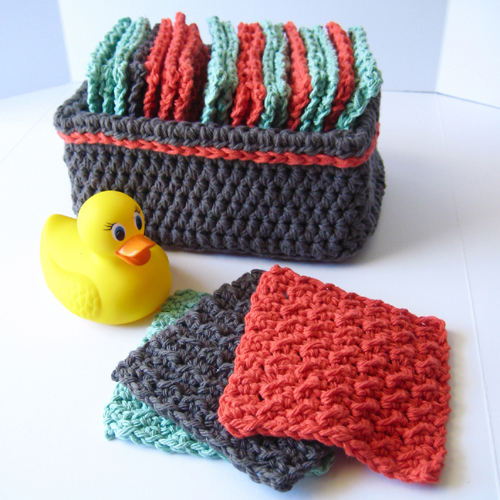 Little Washies - Free Basket & Washcloths Pattern
