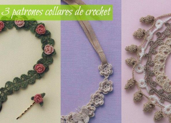 3 collares de crochet con encanto