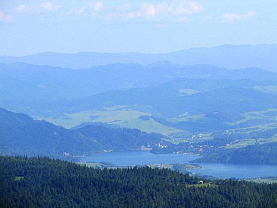 Jezioro Czorsztyńskie z Hali Młyńskiej.