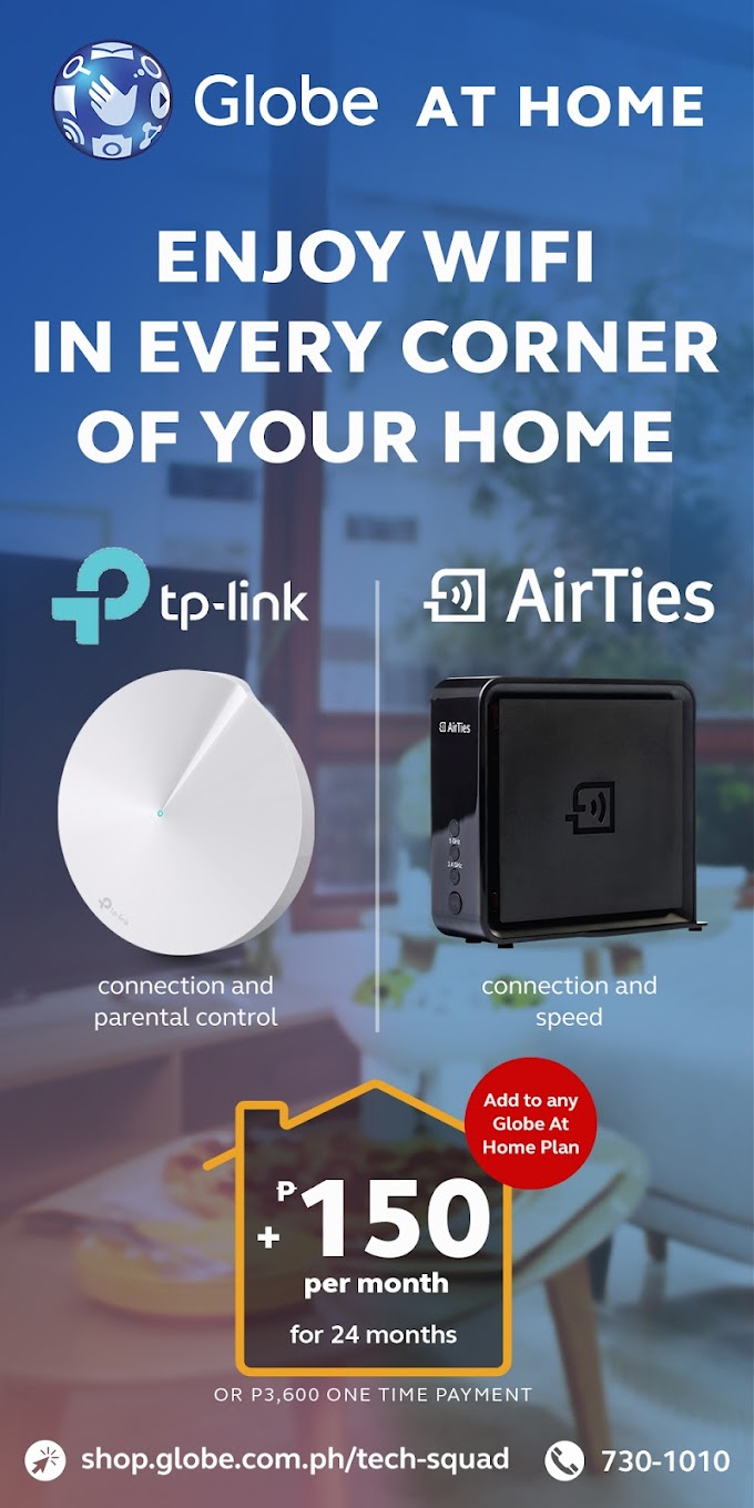 Say Goodbye to Dead Spots in Your Home with Globe At Home WiFi Mesh Devices