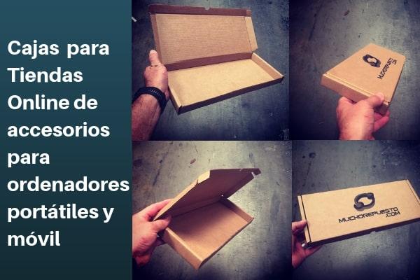 cajas para tiendas online de accesorios para ordenadores, portátiles y móviles
