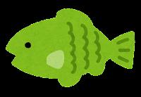 小魚のイラスト(黄緑)