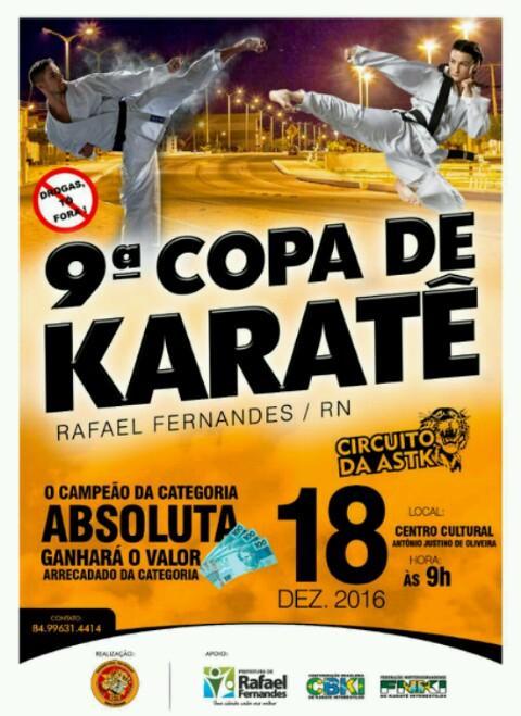 Domingo acontece a 9ª Copa de Karatê de Rafael Fernandes