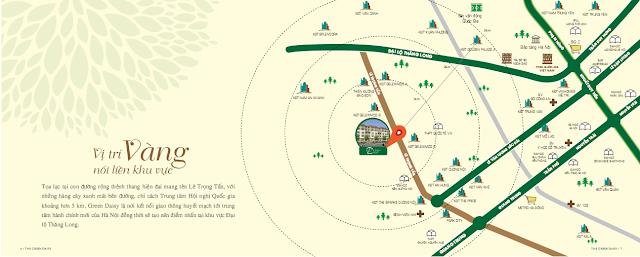 Hệ thống giao thông liên kết thuận lợi từ dự án The Green Daisy