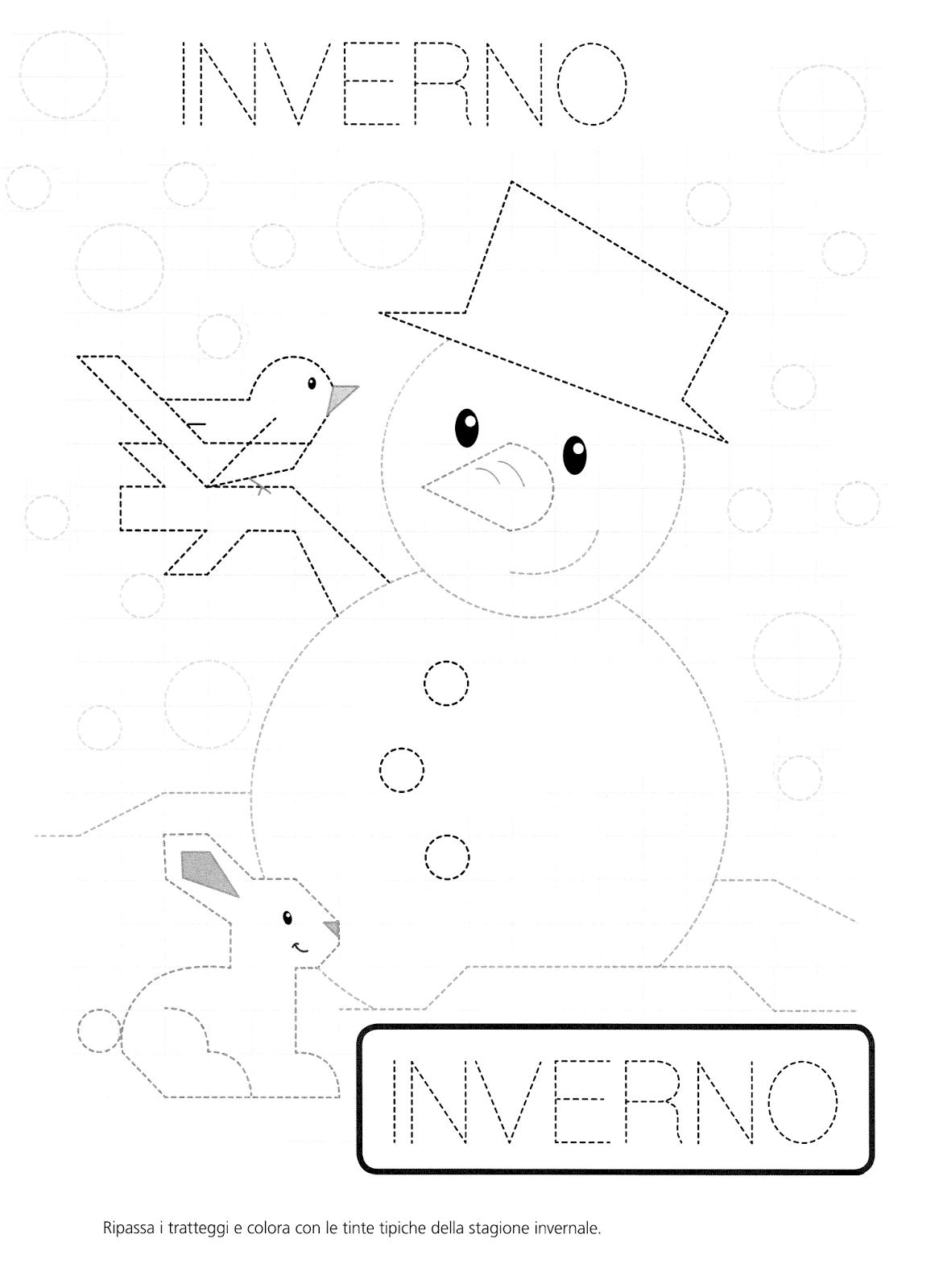 La maestra linda inverno pregrafismo - Immagini da colorare la neve ...