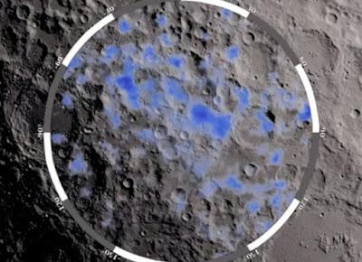Mappa completa acqua sulla Luna