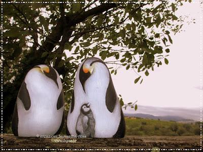prezzi sassi dipinti pinguini