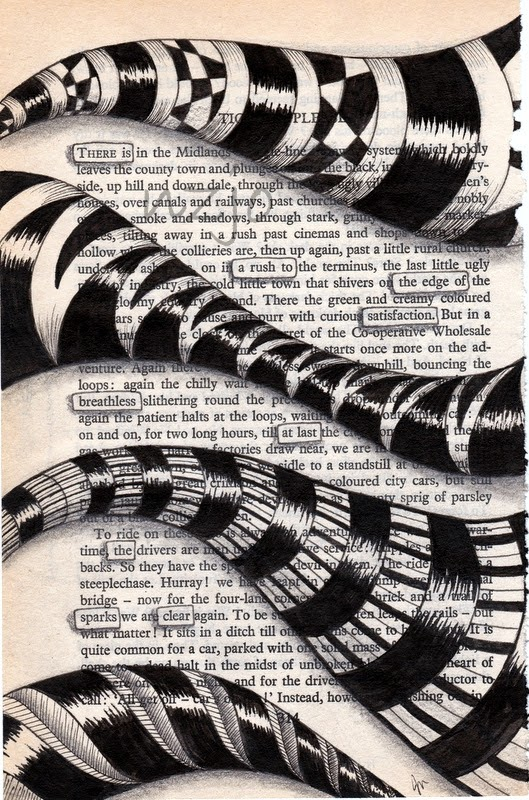 06-The-Edge-Jo-Newsham-Zentangle-Drawings-on-Recycled-Vintage-Book-Pages-www-designstack-co