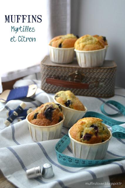 Recette Muffins Myrtilles & citron - muffinzlover.blogspot.fr