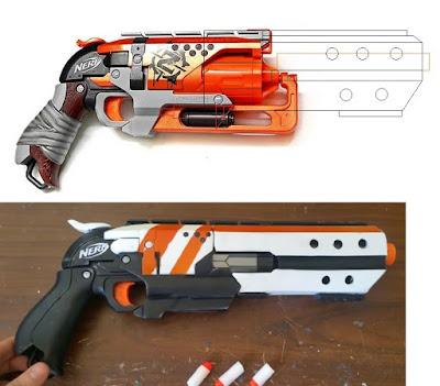 Súng đồ chơi Nerf Hammershot độ chế súng cao bồi