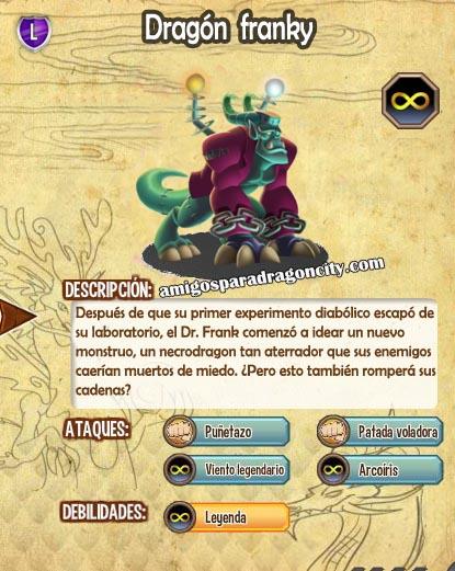 imagen de las caracteristicas del dragon franky