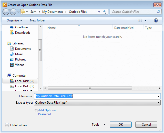 Outlook PST Merge