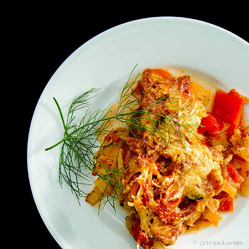 Fennel and Tomato Gratin