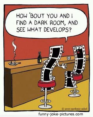 Funny Filem Dark Room Develops Cartoon Joke