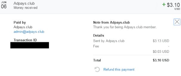 شرح موقع adpays للربح من CPM و POP و الرابط المباشر PTP و 1 دولار كحد أدنى للسحب فقط