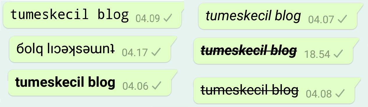 8 Cara Mengubah Gaya Teks (Font) di WhatsApp Menjadi tebal