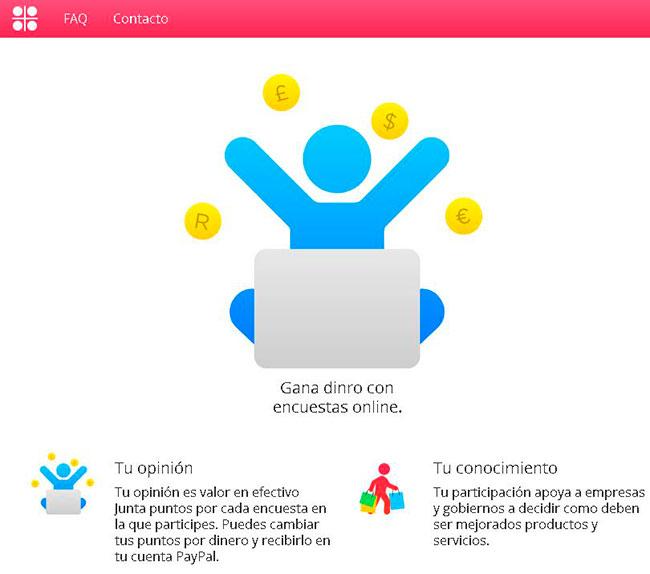 Myiyo - Página de Inicio del portal de encuestas