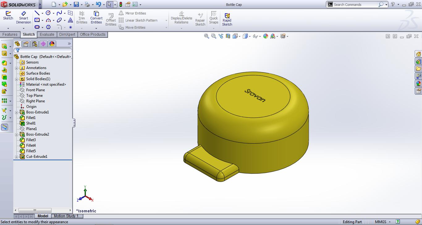 3D Modelling and Rendering - Rapid3DModeller!: Bottle Cap SolidWorks