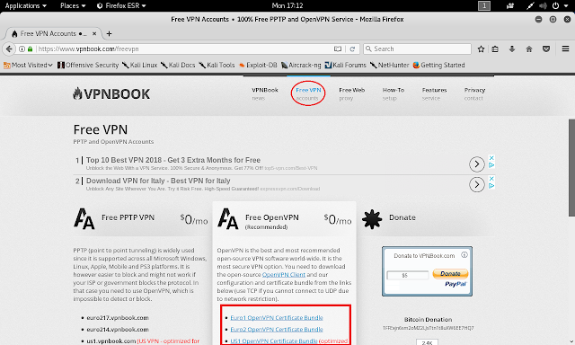 VPNBOOK, Free VPN