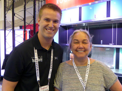 Camping World Truck Racer, Cameron Hayley and NASCAR Race Mom at the Barrett Jackson Auction, West Palm Beach, Florida
