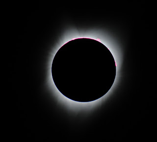 Total Eclipse from Cascade Idaho. Taken by my son Benjy