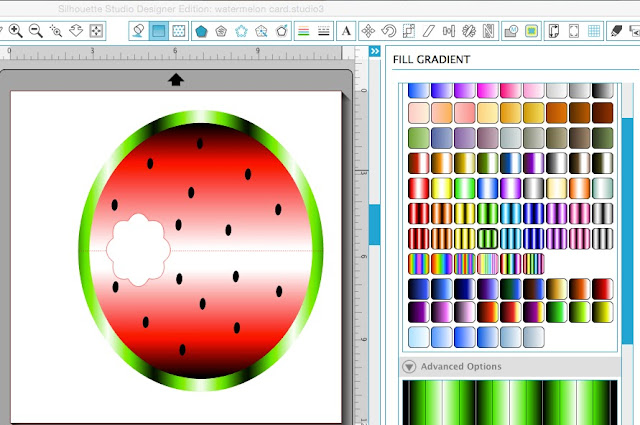 Silhouette Studio, free cut file, watermelon card,  Free studio files for silhouette, Free svg files for silhouette