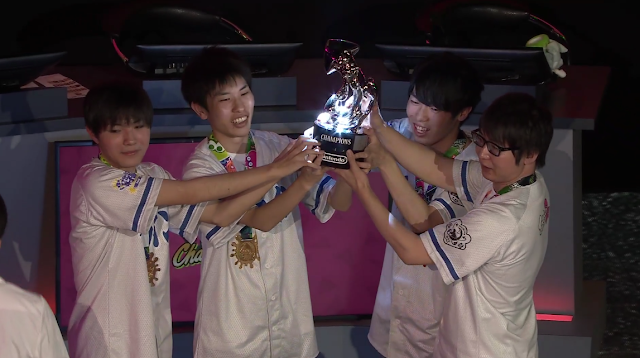 Splatoon 2 World Championship GG BoyZ Japan Sterling Squid silver trophy champions win