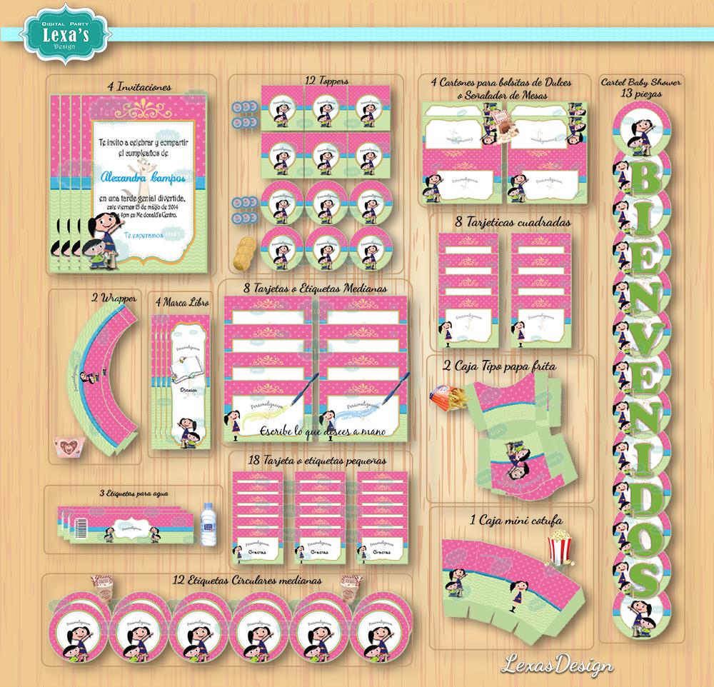 Kit imprimibles para fiestas Mundo de Luna gratis