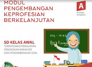 Download Modul PKB Soal Pretest Untuk SD Kelas Tinggi /Rendah 2017