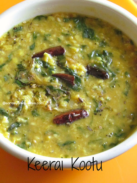 Keerai Kootu / Spinach and Dal curry