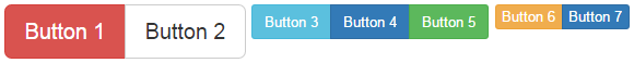 bootstrap button group size