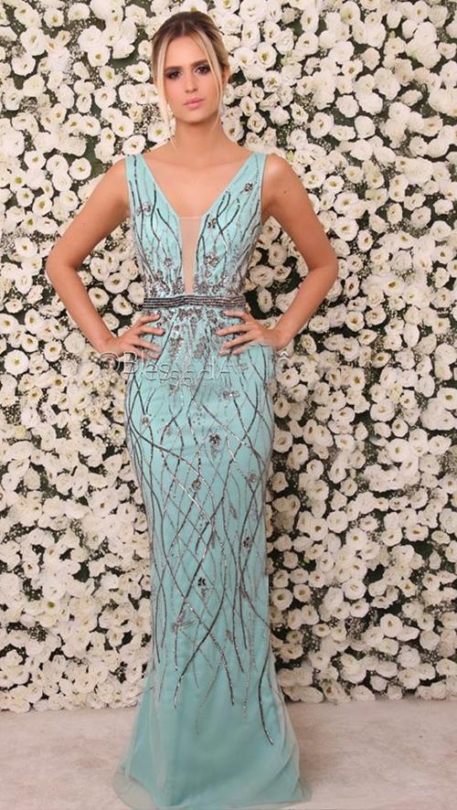 Vestido de madrinha azul tiffany comprar