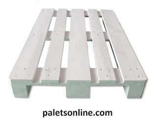 palet 120x80 color blanco Paletsonline.com