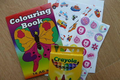 Colouring books and stickers