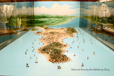 Exhibits showing 17th century Macau Map, Macau Maritime Museum