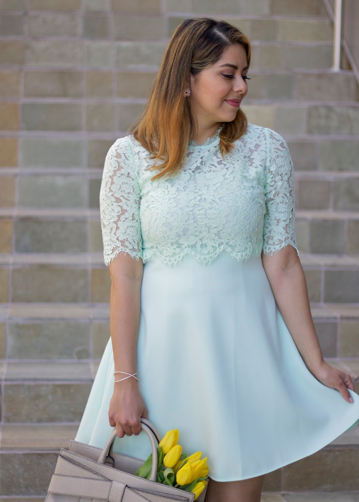 Chicwish mint lace dress, san diego style blogger, san diego fashion, what to wear to an elegant brunch